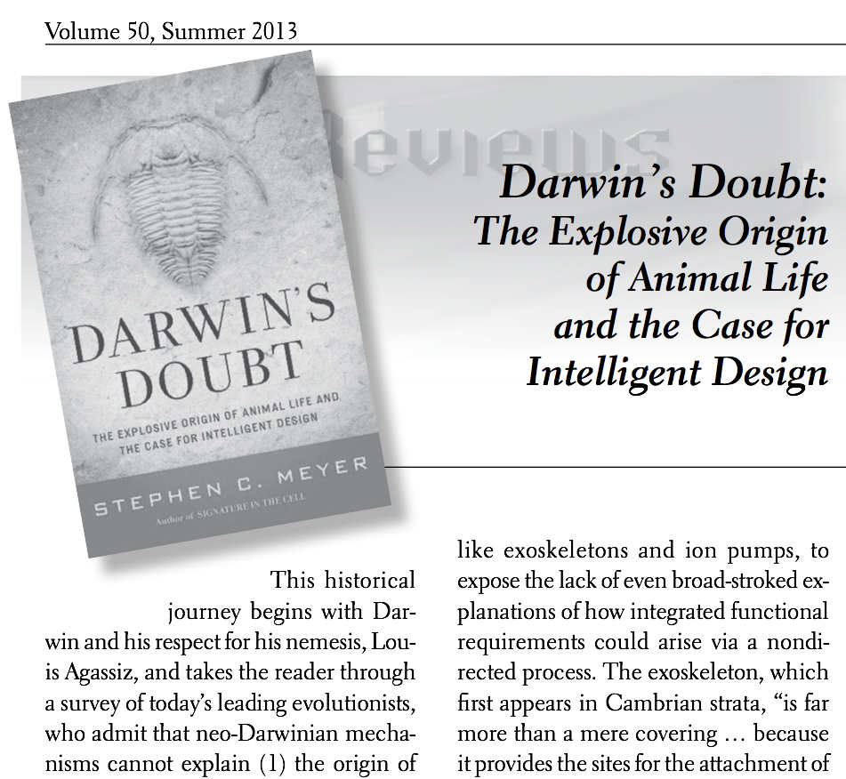 Click for Bob's review of Darwin's Doubt in the CRSQ