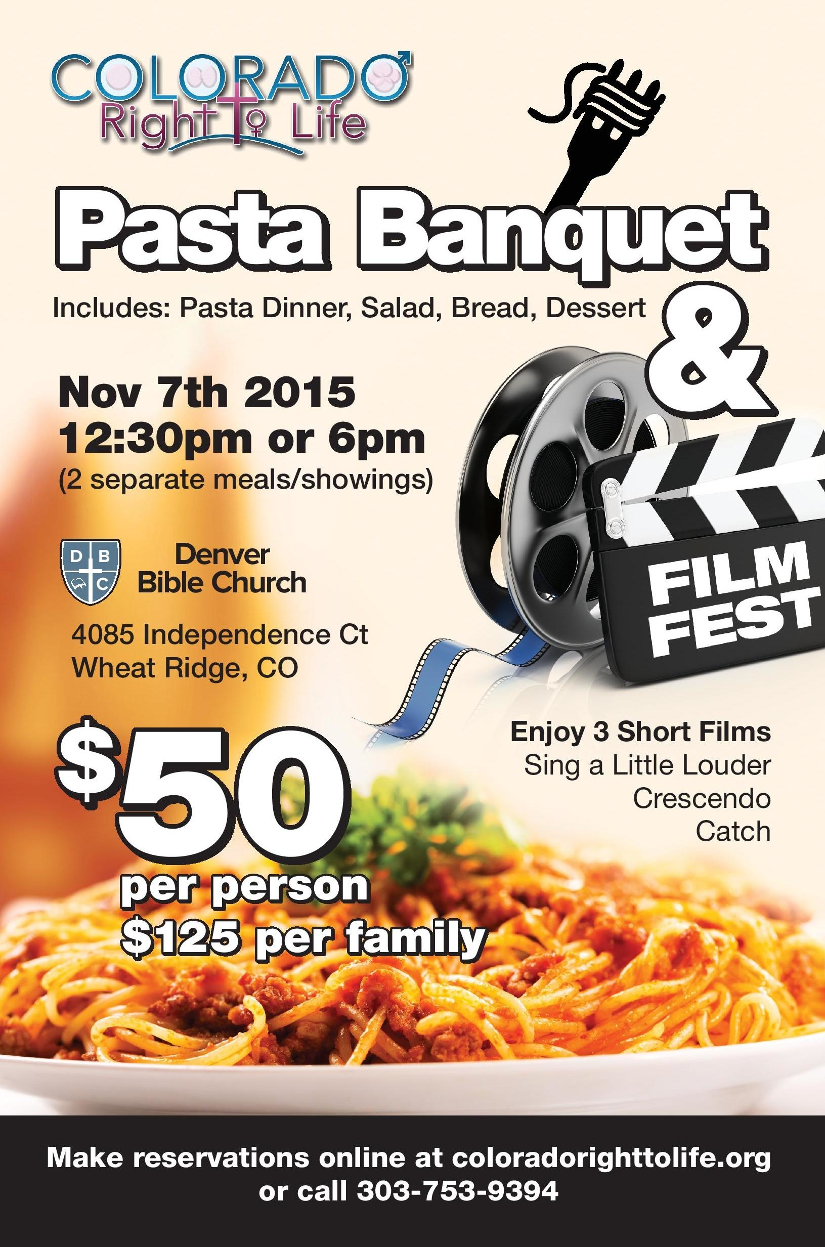 CRTL pasta banquet and mini film festival