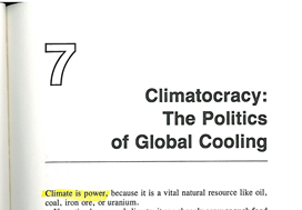 The Cooling, chapter 7: The Politics of Global Cooling :)