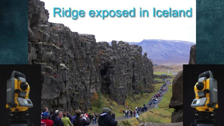 Photo the the mid-Atlantic ridge exposed in Iceland