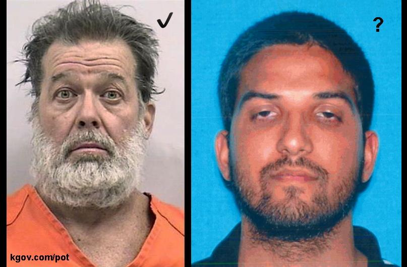 Murderers/Terrorists: Pothead Robert Lewis Dear and suspected pothead Syed Rizwan Farook