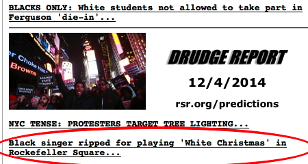 """Confirmed: 12/26/94 prediction of racist view of """"White Christmas"""". See more on Bob's Facebook at tiny.cc/white-xmas"""