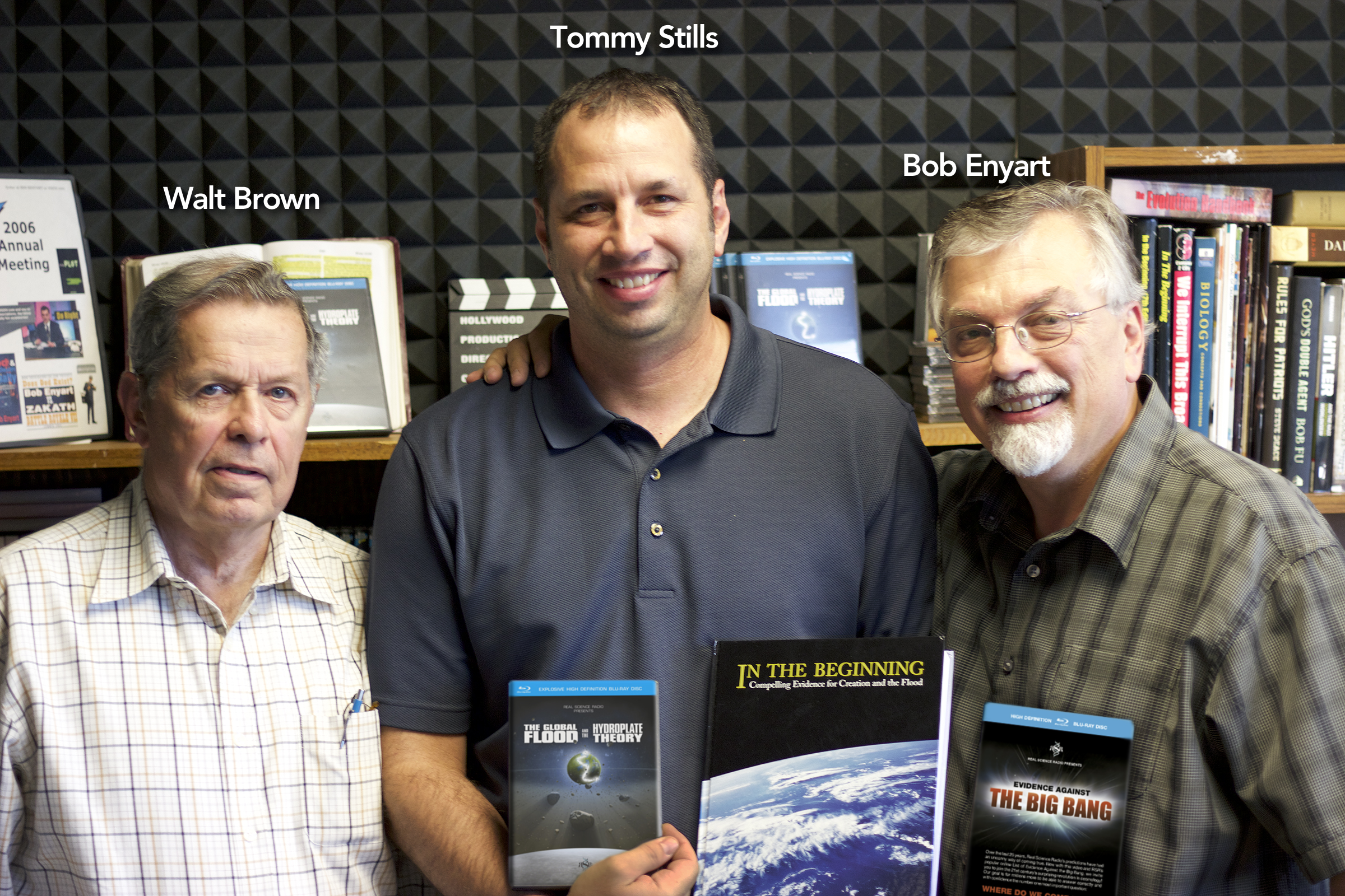 Walt Brown, editor of RSR's Hydroplate Theory video Tommy Stills, Bob Enyart