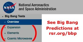 "NASA, et al., claim expansion as a ""prediction"" of the big bang"
