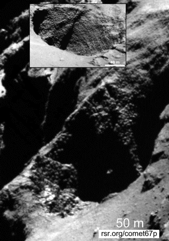 Comet 67P has rounded boulders contrary to secular expectations but confirming creationist predictions