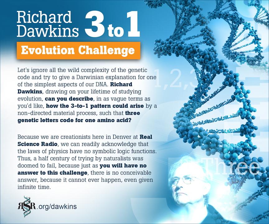 DAWKIN'S 3-to-1 EVOLUTION CHALLENGE from RSR