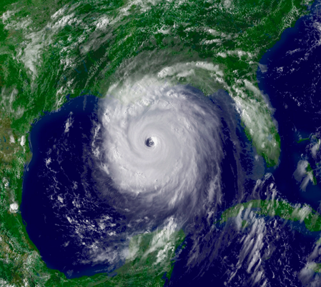 Being in the northern hemisphere, Hurricane Katrina rotated counterclockwise