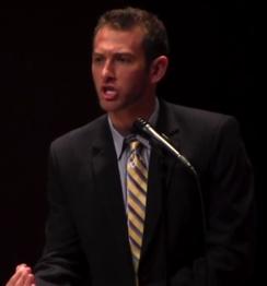 Travis Barlock from an evolution debate at DU