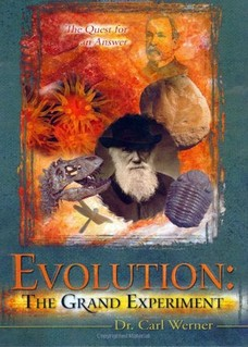 Case cover for Dr. Carl Werner's video, Evolution: The Grand Experiment